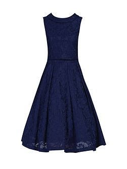 Lace Bonded Overlay 2 in 1 Dress