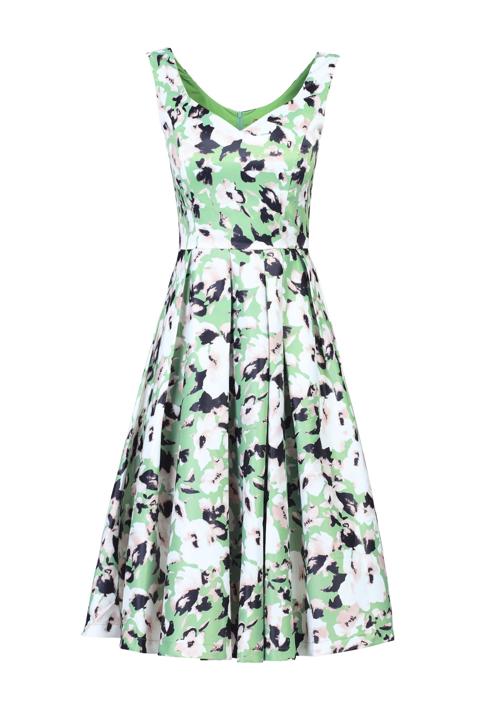 Jolie Moi Sweetheart Neck Printed Dress, Multi-Coloured