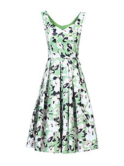 Sweetheart Neck Printed Dress