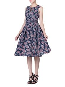 Jolie Moi Floral Print Wrap Belt Dress