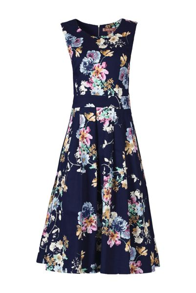 Jolie Moi Retro Floral 50s Dress