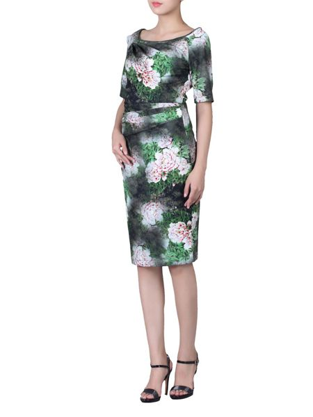 Jolie Moi Floral Print 1/2 Sleeve Dress