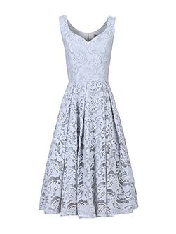 Sweetheart Neck 50s Lace Dress