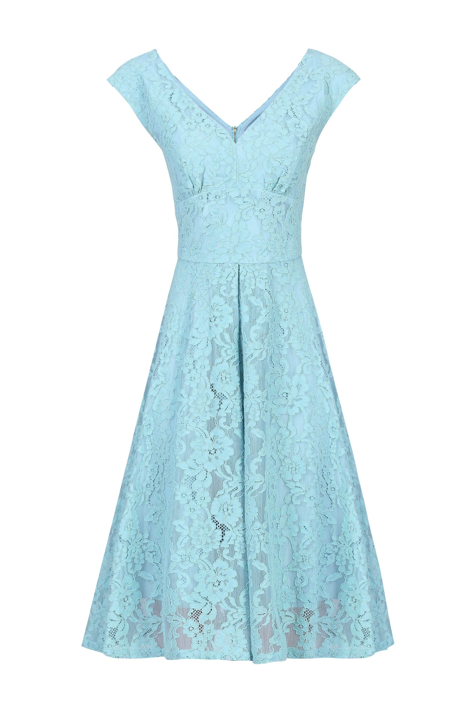 Jolie Moi Sweetheart Neckline 50s Lace Dress, Green
