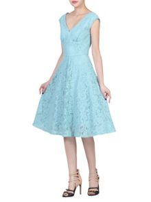 Jolie Moi Sweetheart Neckline 50s Lace Dress