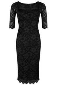Jolie Moi 3/4 Length Sleeved Lace Dress