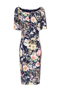 Jolie Moi Print Half Sleeve Shift Dress