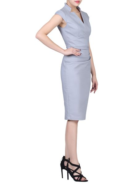 Jolie Moi High Collar Bodycon Dress