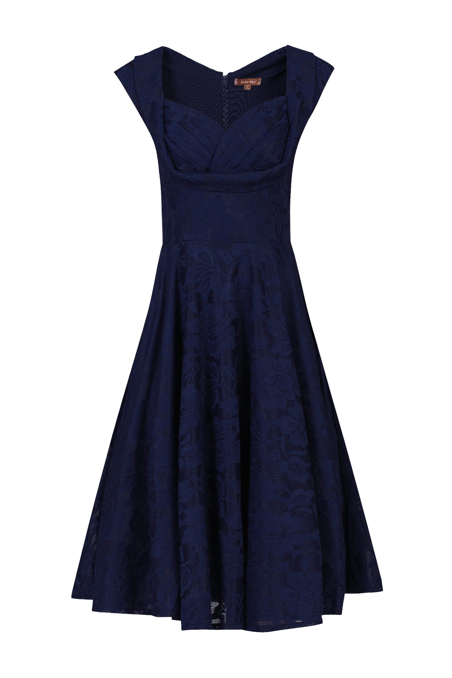 Jolie Moi Ruched Crossover Bust Prom Dress, Blue