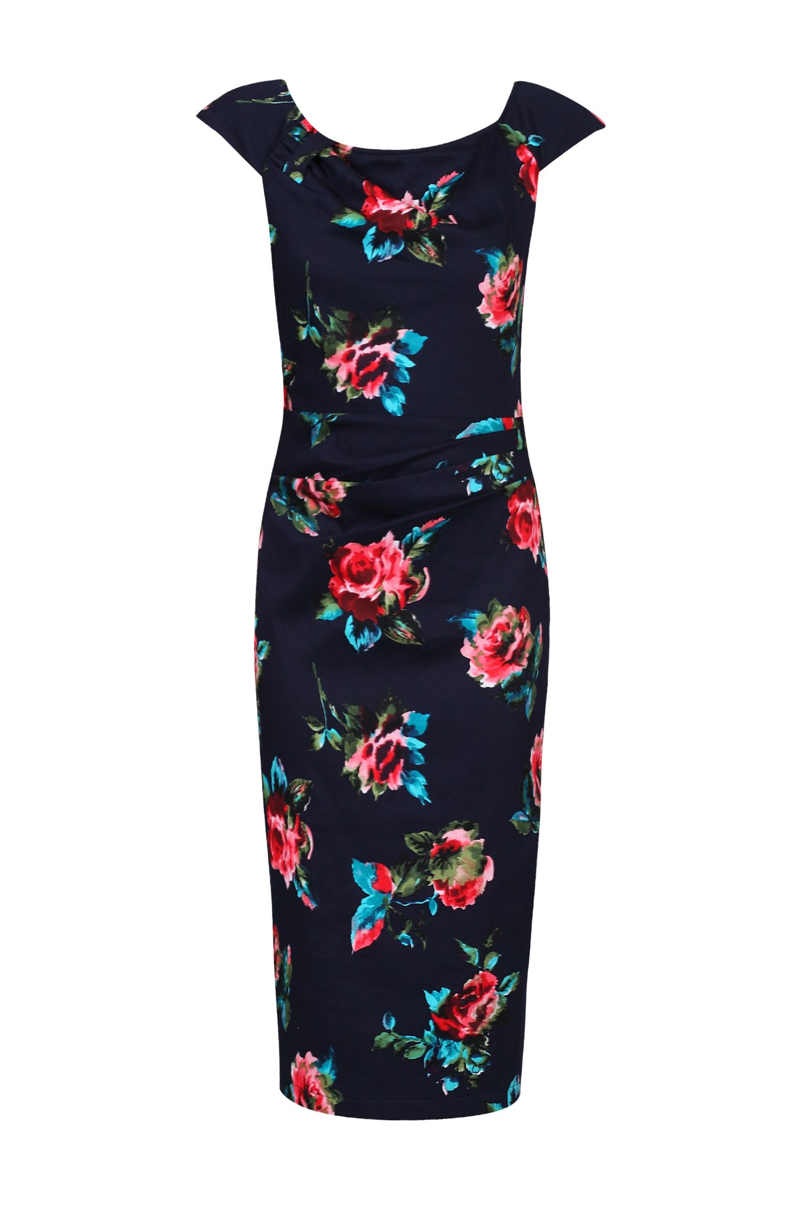 Jolie Moi Floral Print Wiggle Dress, Blue
