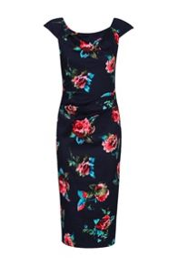 Jolie Moi Floral Print Wiggle Dress