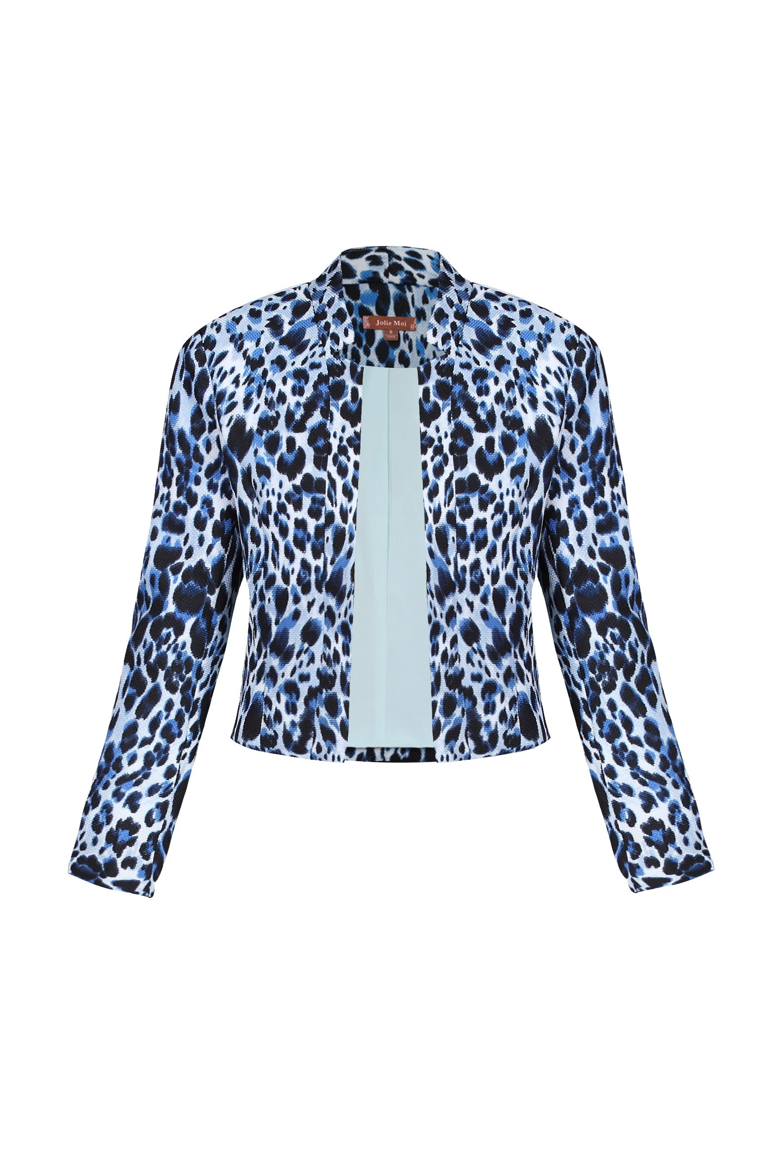 Jolie Moi Leopard Print Light Jacket, Multi-Coloured