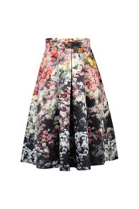 Jolie Moi Floral Printed A-line Skirt