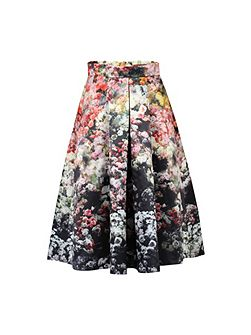 Floral Printed A-line Skirt