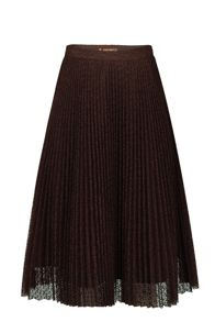 Jolie Moi Lace Pleated A-line Skirt