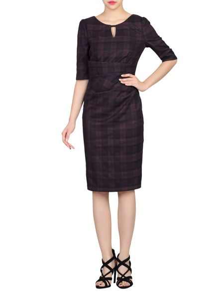 Jolie Moi Checked Woven Shift Dress