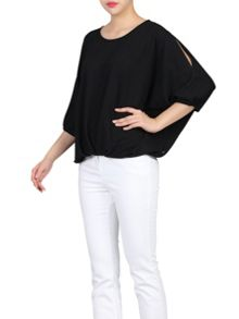 Jolie Moi Ruched Batwing Top