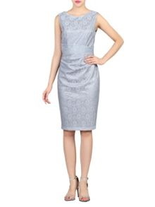 Jolie Moi Lace Bonded Sequin Dress
