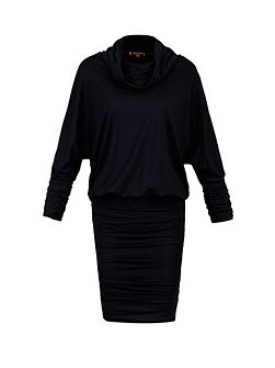 Cowl Neck Batwing Sleeved Tunic