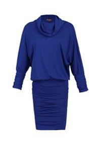 Jolie Moi Cowl Neck Batwing Sleeved Tunic