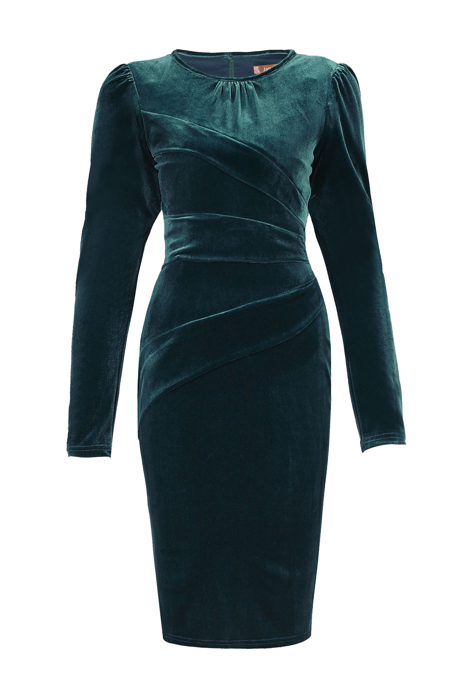 Jolie Moi Asymmetrical Fold Bodycon Dress, Teal
