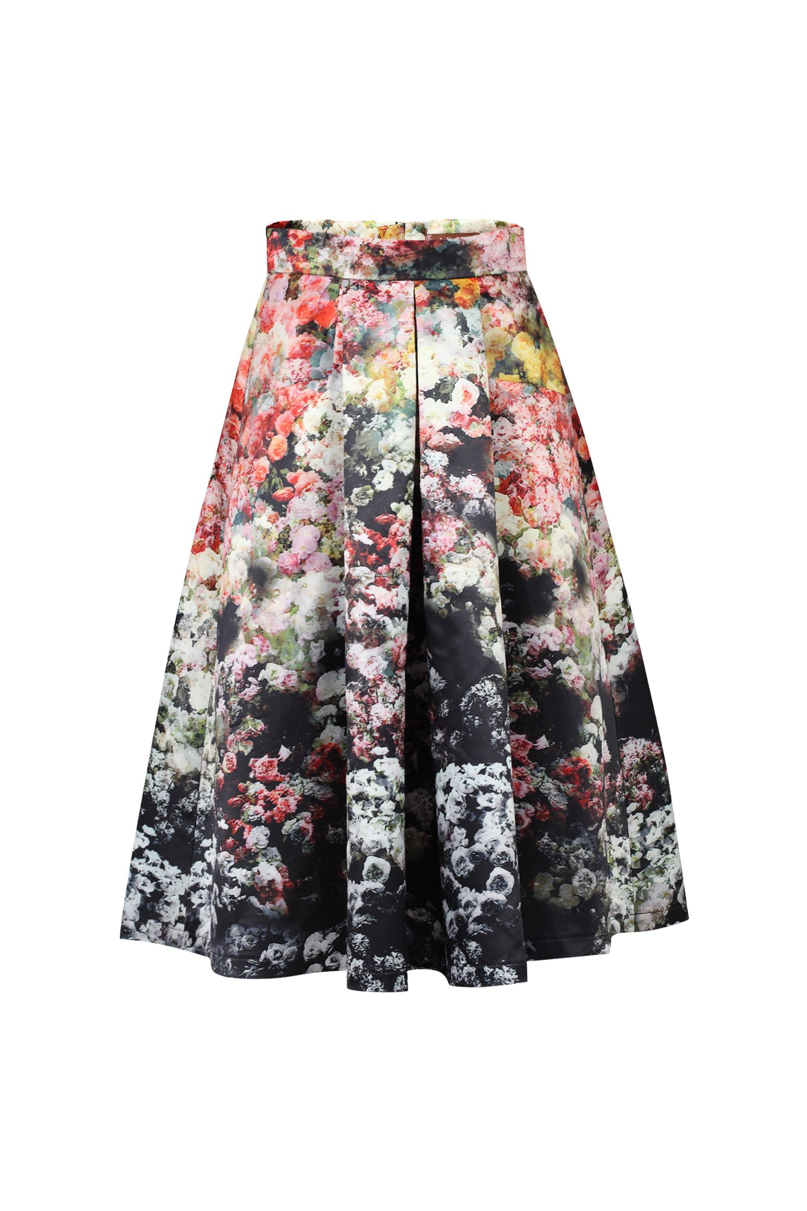 Jolie Moi Floral Print A-line Midi Skirt, Multi-Coloured
