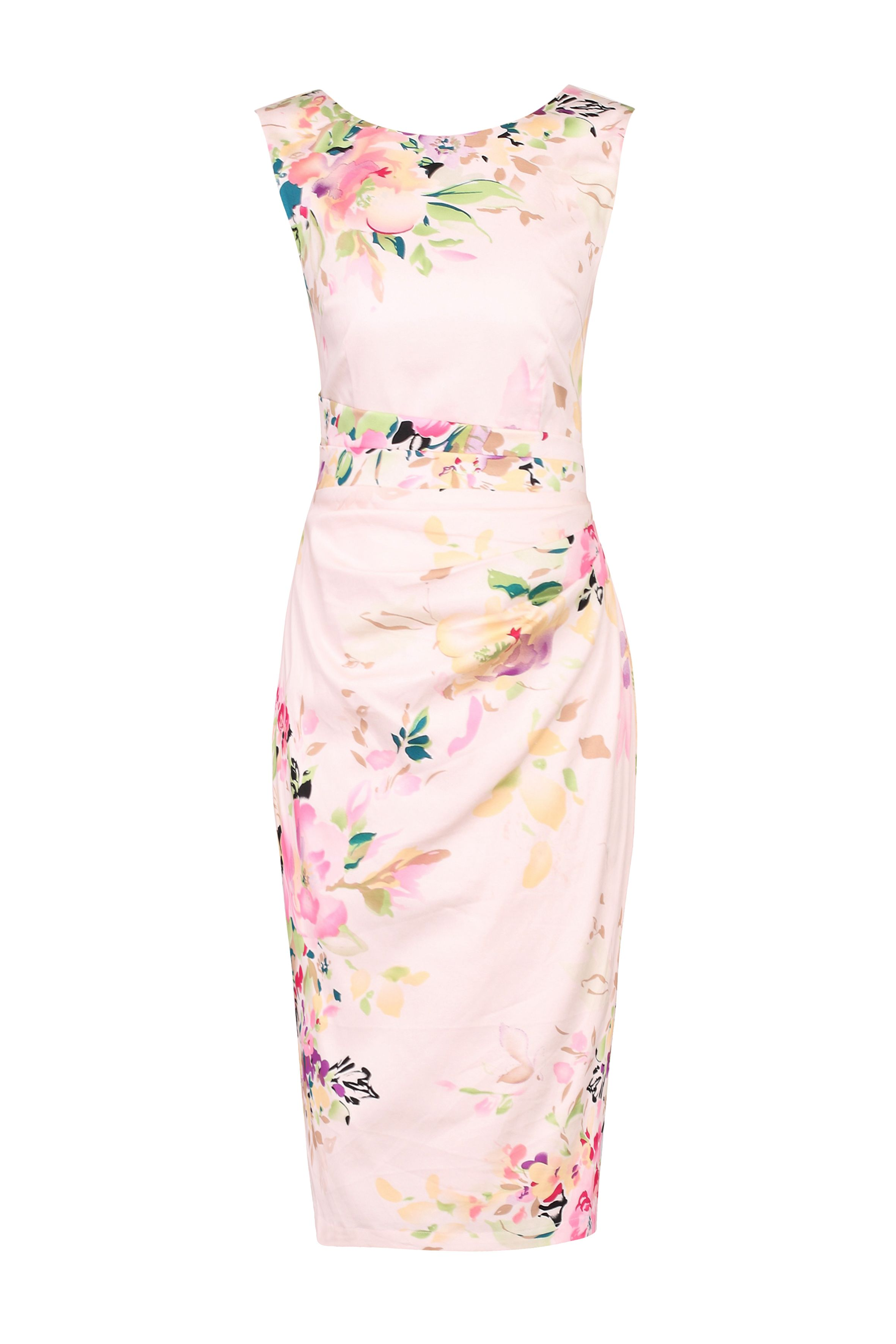 Jolie Moi Floral Print Cotton Shift Dress, Pink