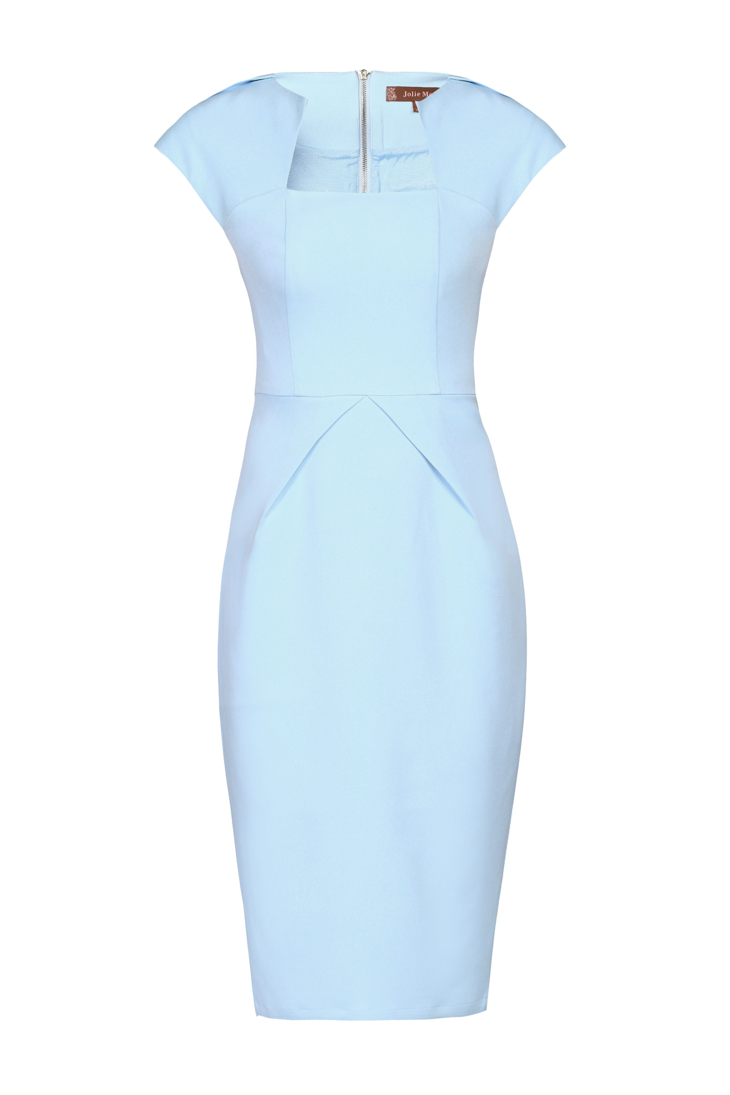 Jolie Moi Constructed Fold Detail Dress, Blue