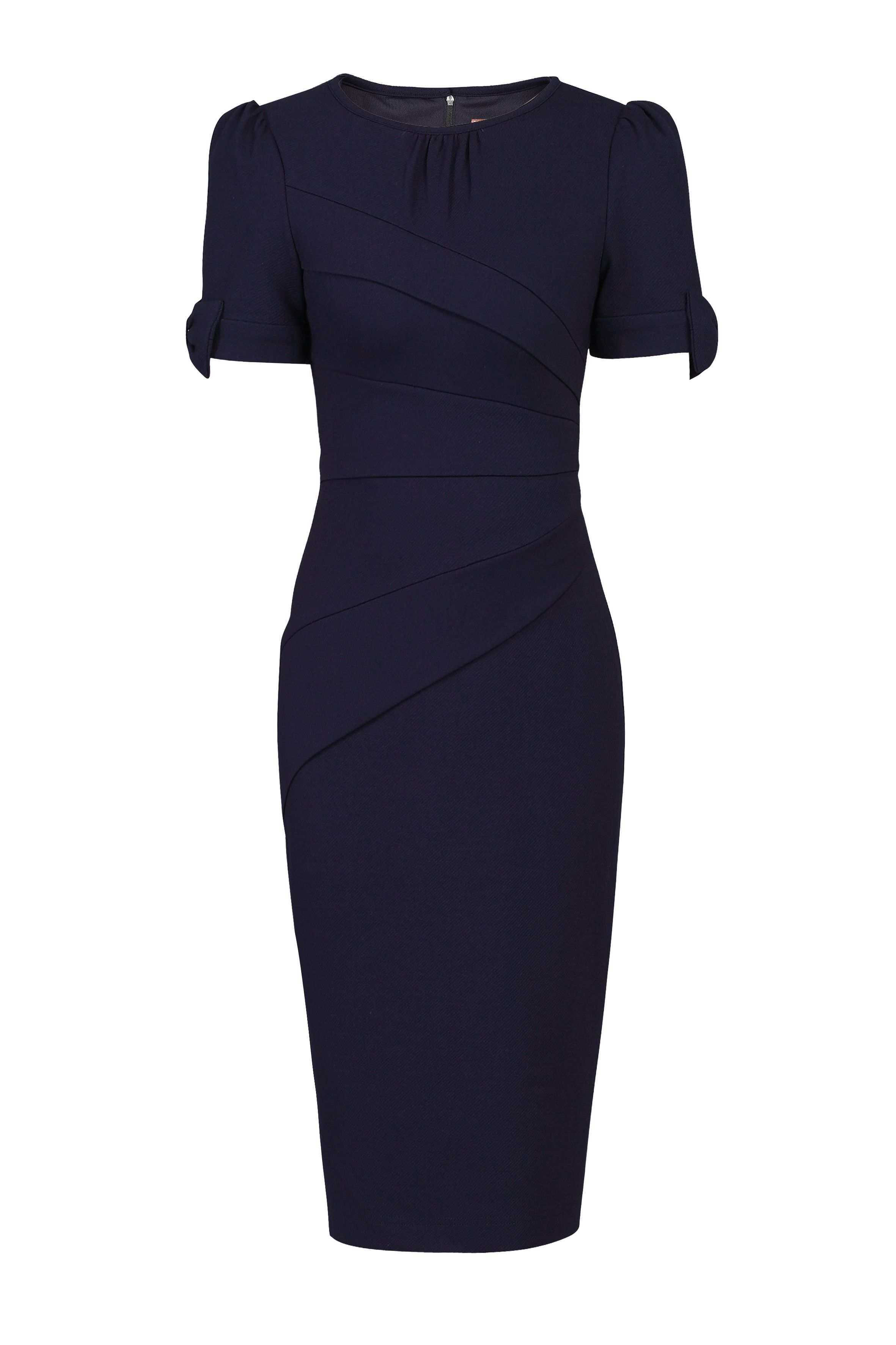 Jolie Moi Bow Detail Bodycon Dress, Blue