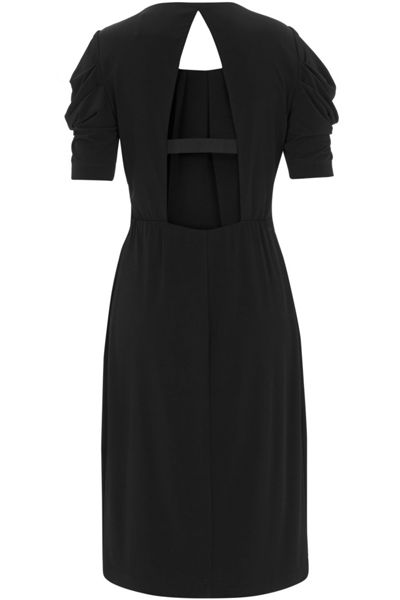 Havren Backless Drape Jersey Dress
