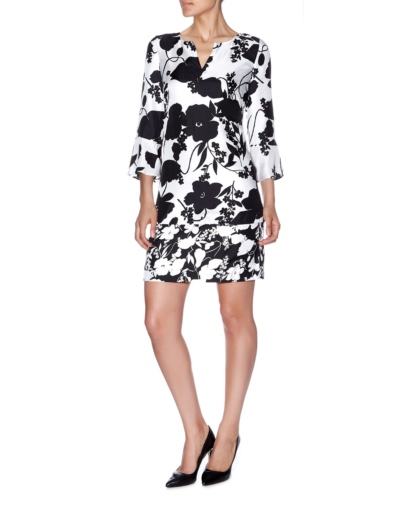 Silhouette Printed Shift Dress