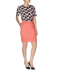 Havren Solid Colour Pencil Skirt