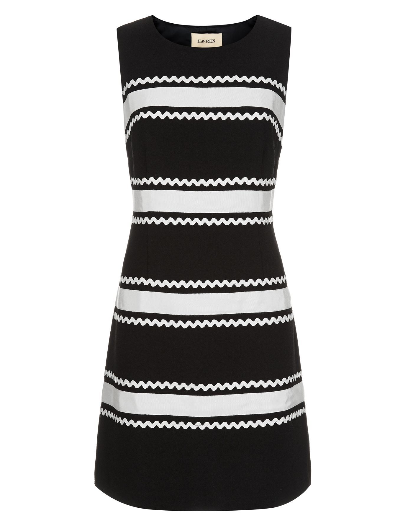 A-Line Trim Detail Dress