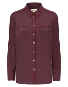 Havren Piped Silk Shirt