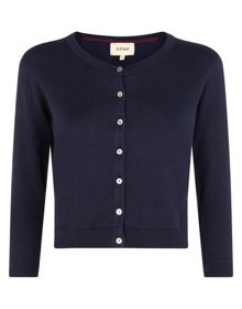 Havren Cropped Crew Neck Cardigan