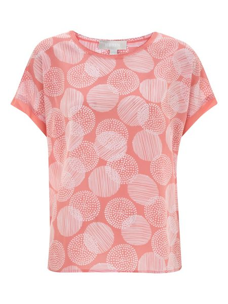 Havren Printed Silk T-Shirt