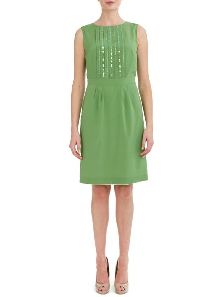 Havren Embellished Front Silk Dress
