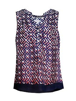 Lattice Print Top