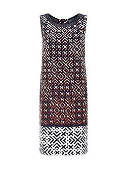 Lattice Print Dress