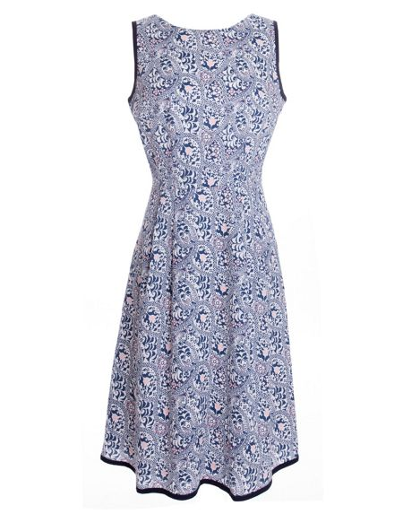Havren Ibiza Print Summer Dress