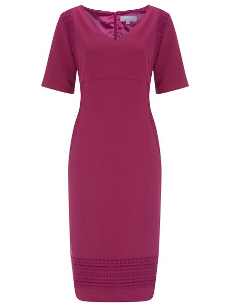 Havren Emily Crochet Trim Dress