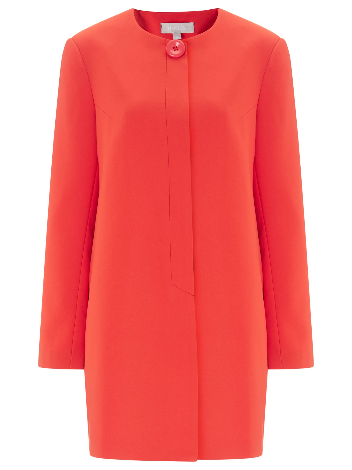 Havren Eliza Collarless Jacket, Orange