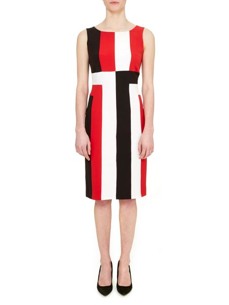 Havren Ruby Colour Block Dress