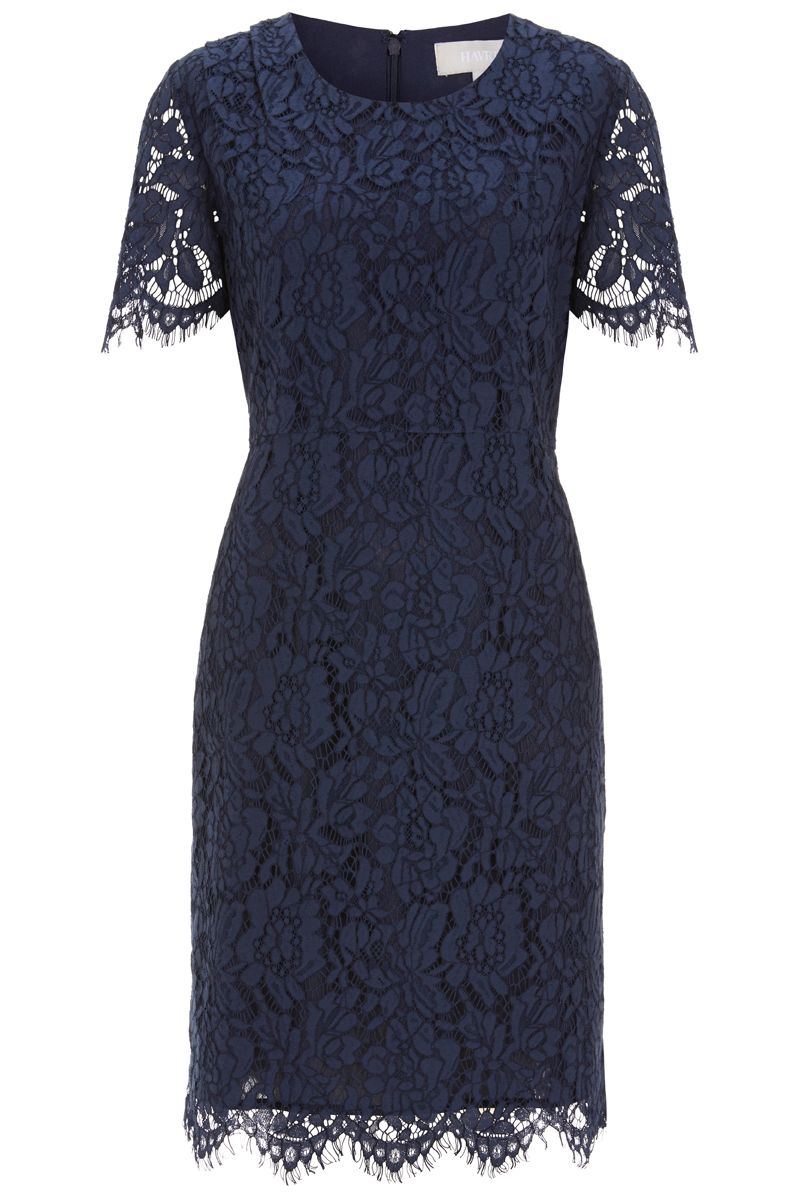 Havren Helena Lace Dress, Blue