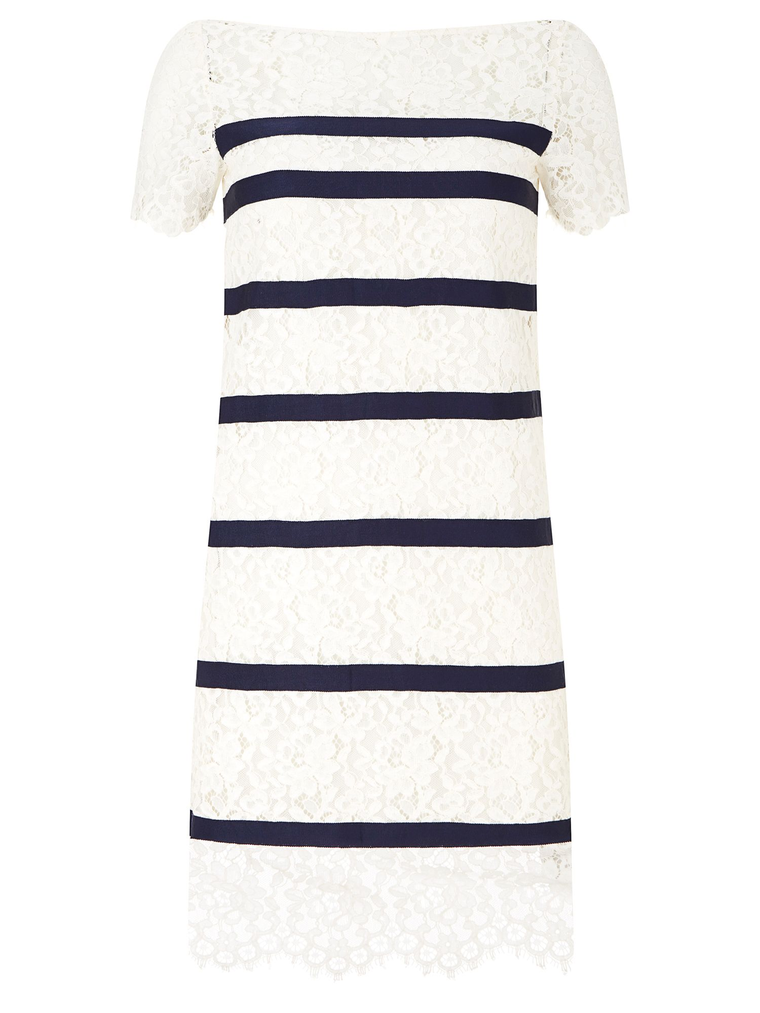 Havren Bethany Stripe Lace Dress, Multi-Coloured