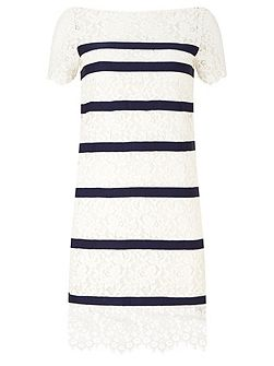 Bethany Stripe Lace Dress