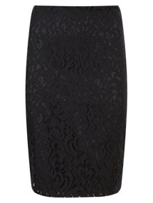 Havren Lulu Lace Pencil Skirt