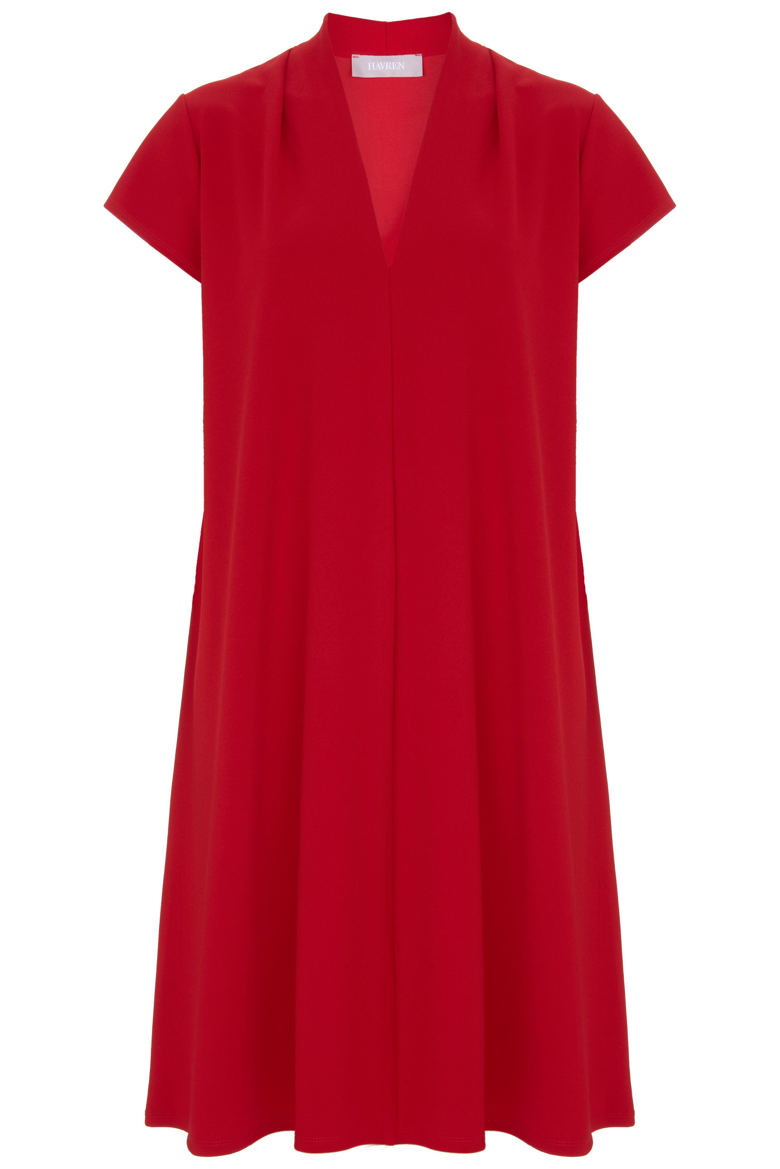 Havren Nancy Tunic Dress, Red