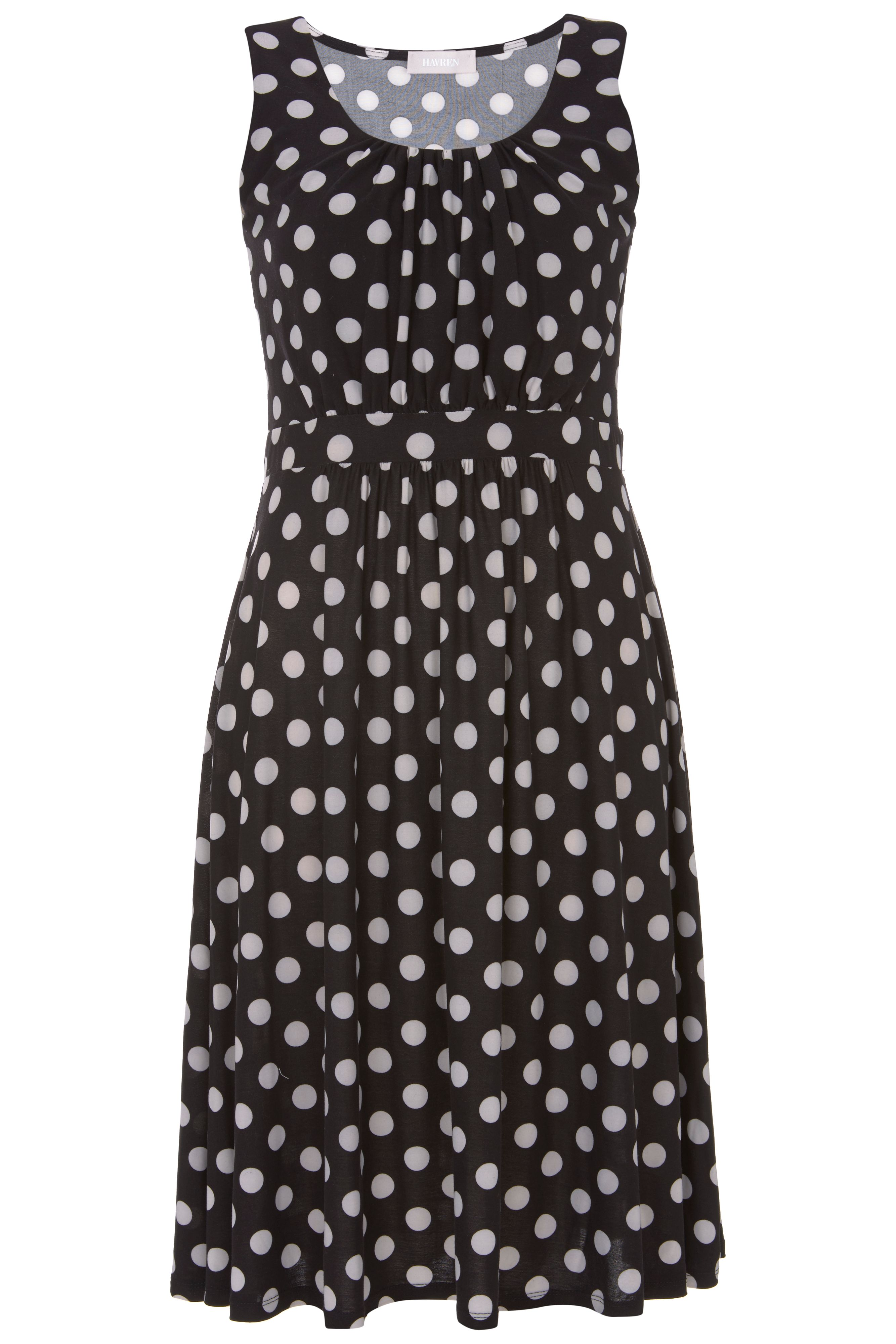 Havren Orla Spot Dress, Black