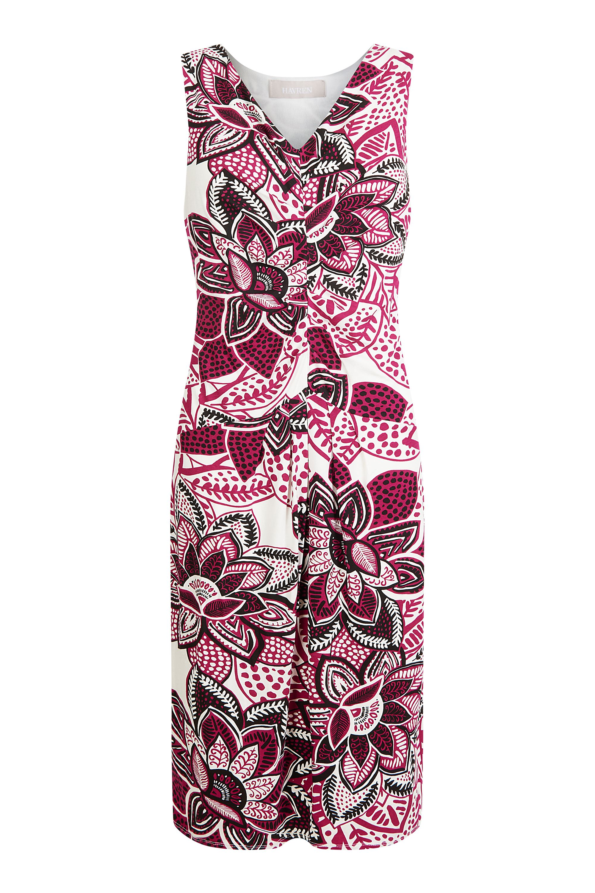 Havren Nikki Jersey Dress, Fuchsia